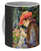 Marie Therese Durand Ruel Sewing Coffee Mug by Pierre Auguste Renoir