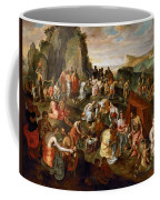 Moses Striking Water From The Rock Coffee Mug