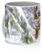 Pine Branch Tree Under Snow Coffee Mug