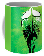 Rhino Animal Decorative Green Poster 6 - By  Diana Van Coffee Mug