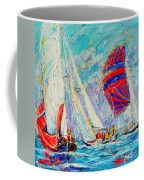 Sail Of Amsterdam II - Tree Sailboats  Coffee Mug