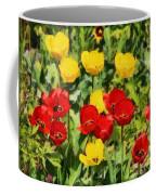 Spring Landscape With Tulips Coffee Mug