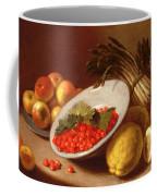 Still Life Of Raspberries Lemons And Asparagus  Coffee Mug