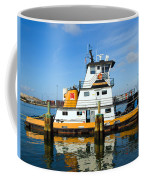 Tug Indian River Is Part Of The Scene At Port Canvaeral Florida Coffee Mug