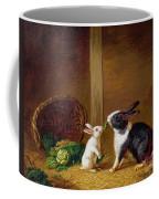 Two Rabbits Coffee Mug by H Baert