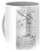 Vertically Standing Bird's Winged Flying Machine Coffee Mug