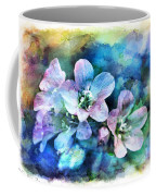 Wildflowers 5  -  Polemonium Reptans - Digital Paint 4 Coffee Mug