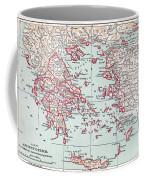 Map: Ancient Greece Coffee Mug