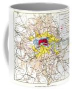 Map Of London, 1881 Coffee Mug