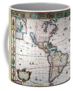 New World Map, 1616 Coffee Mug