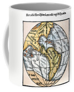 World Map, 1529 Coffee Mug