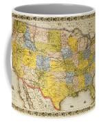United States Map, 1866 Coffee Mug