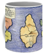 Map Of Atlantis, 1678 Coffee Mug
