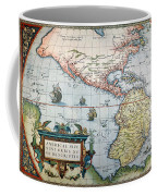 New World Map, 1570 Coffee Mug