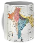 India: Map, 19th Century Coffee Mug