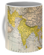 Asia Map, 19th Century Coffee Mug