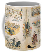 Overproduction Cartoon Coffee Mug