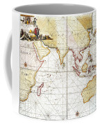 Indian Ocean: Map, 1705 Coffee Mug