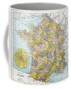 Map Of France, C1900 Coffee Mug
