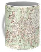 Map Of Europe, C1812 Coffee Mug