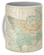 Balkan Map, 1885 Coffee Mug