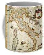 Map Of Italy, 1631 Coffee Mug