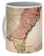 Colonial America Map, 1733 Coffee Mug