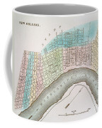 New Orleans Map, 1837 Coffee Mug