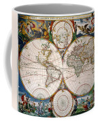 World Map, 17th Century Coffee Mug