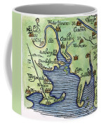 New England Map 1677 Coffee Mug
