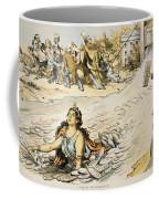 Free Silver Cartoon, 1890 Coffee Mug