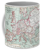 Map Of Europe, 12th Century Coffee Mug