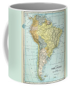 South America: Map, C1890 Coffee Mug