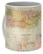 Map: Puerto Rico, 1900 Coffee Mug by Granger