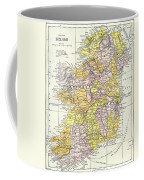 Map: Ireland, C1890 Coffee Mug