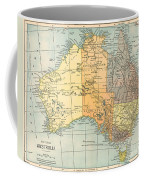 Map: Australia, C1890 Coffee Mug