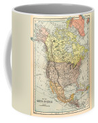 Map: North America, 1890 Coffee Mug