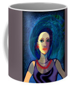 066 Woman With Red Necklace Av Coffee Mug