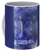 1913 Pocket Watch Patent Blue Coffee Mug
