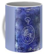 1916 Pocket Watch Patent Blueprint Coffee Mug
