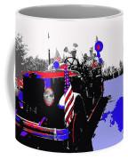 1930 American Lafrance Fire Truck Pro-viet Nam War March Tucson Arizona 1970 Color Added Coffee Mug