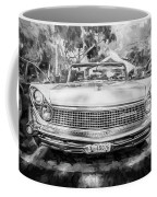 1959 Lincoln Continental Town Car Mk Iv Painted Bw Coffee Mug
