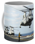 A Ch-46e Sea Knight Helicopter Takes Coffee Mug