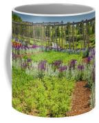 A Corridor Of Purple Sage Flowers And Stachys Lanata Sunlit Coffee Mug