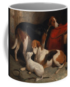 A Couple Of Foxhounds With A Terrier - The Property Of Lord Henry Bentinck  Coffee Mug