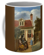 A Group At The Site Behind A House Coffee Mug