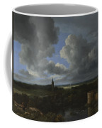 A Landscape With A Ruined Castle And A Church Coffee Mug