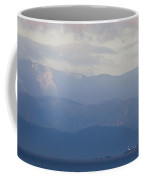A Lighthouse At Sunset With The Olympic Coffee Mug by Taylor S. Kennedy