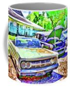 A Line Of Classic Antique Cars 3 Coffee Mug