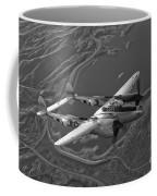 A Lockheed P-38 Lightning Fighter Coffee Mug